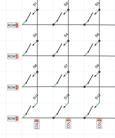 How a Matrix Keypad Works