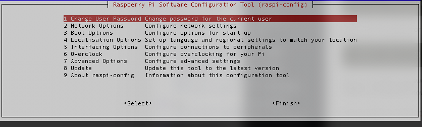 raspi-config: Raspbian Lite config tool for Raspberry Pi