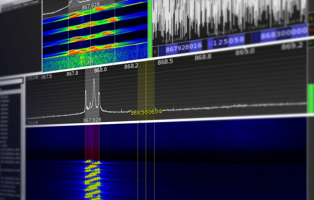Using software defined radio SDR as spectrum analyser to debug LoRa communication problems